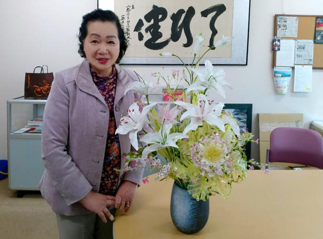 総会用のお花を制作